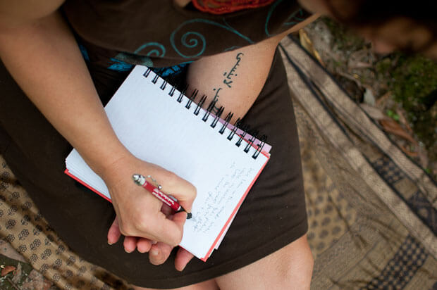 tattoo with notebook