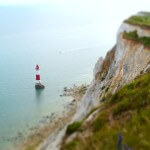 cliff with lighthouse