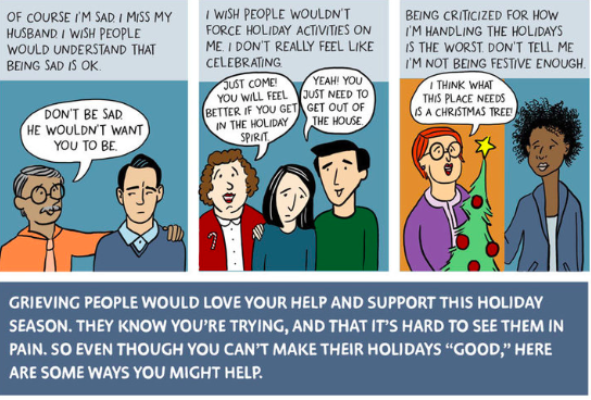 How can you help a grieving friend during the holidays?
